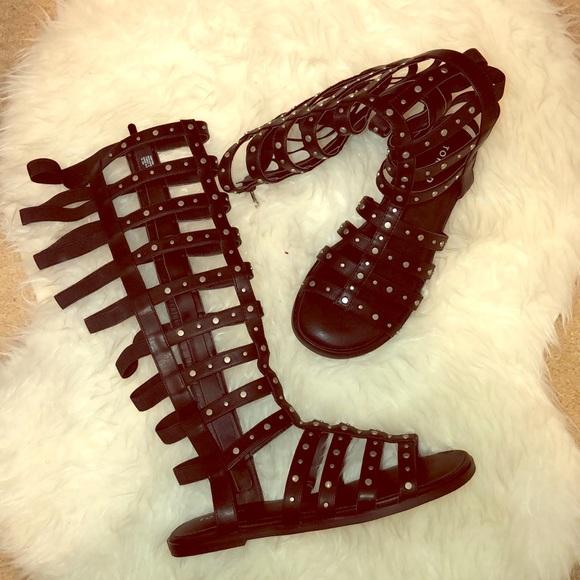0d9ba0498db6 Torrid Studded Knee-High Gladiator Sandals